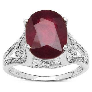 Malaika Sterling Silver Ruby 4ct TGW Ring