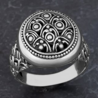 Sterling Silver Rain Forest Cawi Ring (Indonesia)