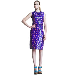Marc Jacobs Royal Blue and Pink Sequined Cocktail Dress