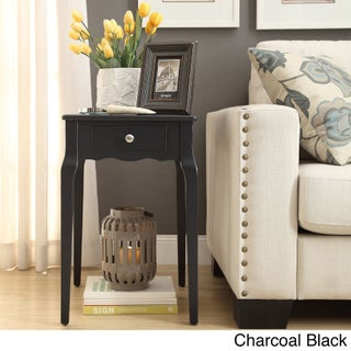 Bold Accent Single-drawer Side Table (Option: Charcoal Black)