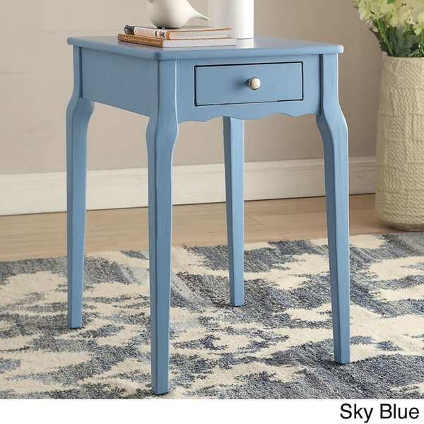 Bold Accent Single Drawer Side Table   Free Shipping Today   Overstock.com    17106566