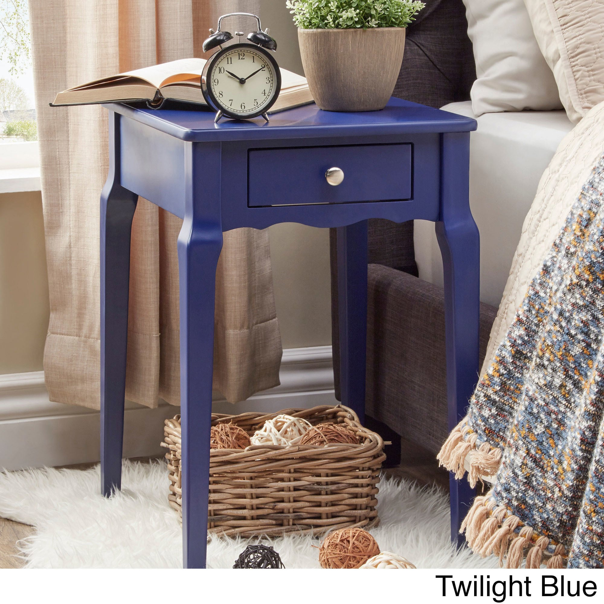 Bold Accent Single Drawer Side Table (More Options Available)
