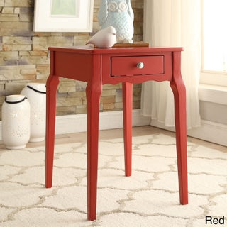 Bold Accent Single-drawer Side Table (Option: Red)