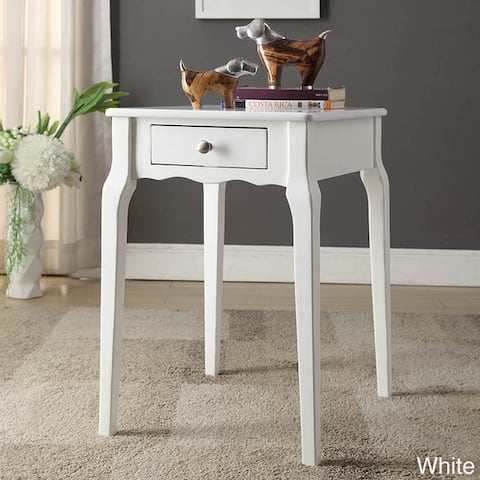 Daniella 1-drawer Wood Storage Side Table by iNSPIRE Q Bold