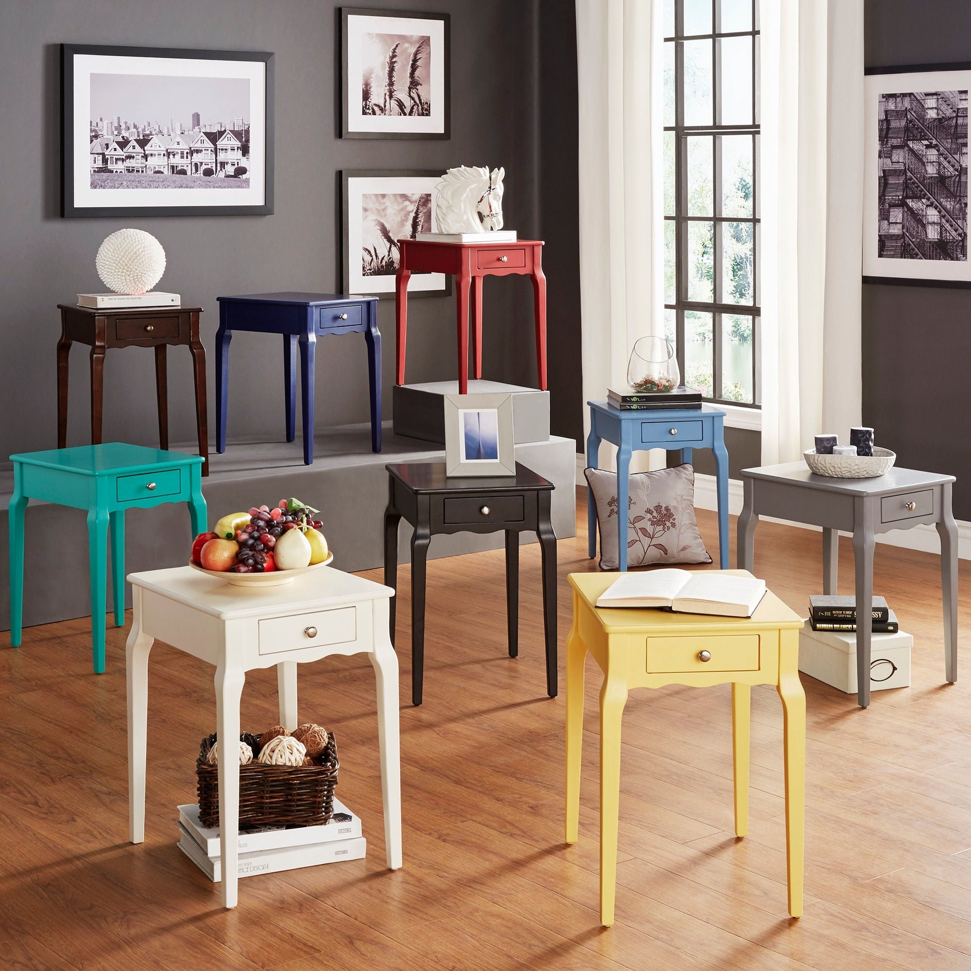 Bold Accent Single Drawer Side Table