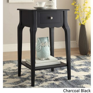 Daniella 1-drawer Wood Storage Accent End Table by iNSPIRE Q Bold (Option: Midnight Black)