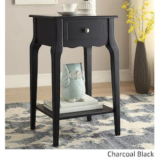 Daniella 1 Drawer Wood Storage Accent End Table By Inspire Q Bold
