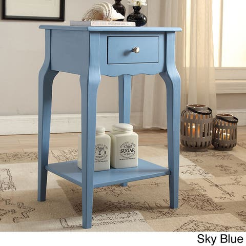 Daniella 1-Drawer Wood Storage Accent End Table by iNSPIRE Q Bold - End Table