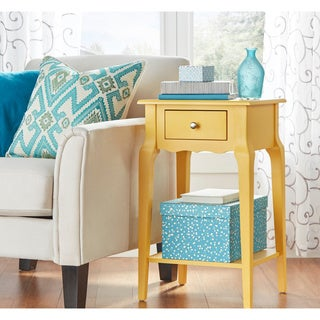 Daniella 1-drawer Wood Storage Accent End Table by iNSPIRE Q Bold (More options available)