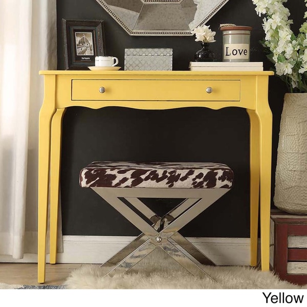Daniella 1drawer Wood Accent Console Sofa Table by iNSPIRE Q Bold