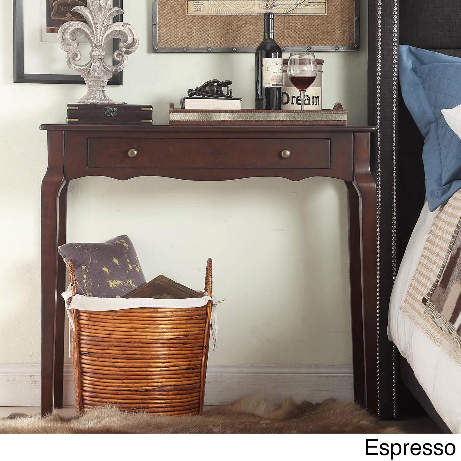 Stupendous Details About Daniella 1 Drawer Wood Accent Console Sofa Table By Inspire Unemploymentrelief Wooden Chair Designs For Living Room Unemploymentrelieforg