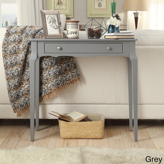 Daniella 1-drawer Wood Accent Console Sofa Table by iNSPIRE Q Bold (Grey)