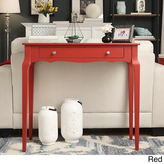 Daniella 1-drawer Wood Accent Console Sofa Table by iNSPIRE Q Bold (Option: Red)