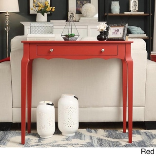 Daniella 1-drawer Wood Accent Console Sofa Table by iNSPIRE Q Bold (Red)