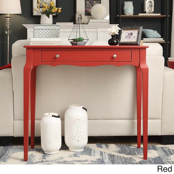 red console tables living room furniture find great furniture rh overstock com red oak sofa table red oak sofa table