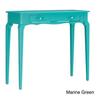 Daniella 1-drawer Wood Accent Console Sofa Table by iNSPIRE Q Bold (Option: Marine Green)