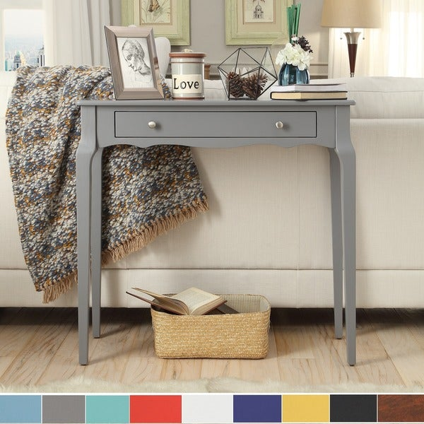 Daniella 1-drawer Wood Accent Console Sofa Table by iNSPIRE Q Bold. Opens flyout.