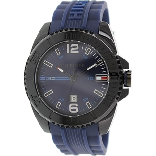 Tommy Hilfiger Men's 1791040 Blue Rubber Quartz Watch