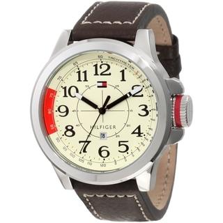 Tommy Hilfiger Men's Sam 1790844 Beige Calf Skin Quartz Watch