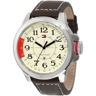 Tommy Hilfiger Men's Sam 1790844 Beige Calf Skin Quartz Watch