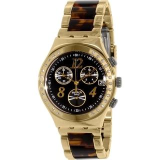 Link to Swatch Women's Irony YCG405GC Goldtone Stainless Steel Swiss Quartz Watch Similar Items in Cycling Equipment