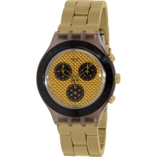 Swatch Men's Irony SVCM4010AG Goldtone Swiss Quartz Watch