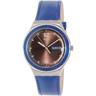 Swatch Men's Irony YGS774 Black Leather Swiss Quartz Watch