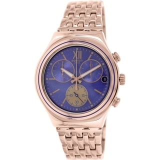 Swatch Men's Irony YCG409G Rose-gold Stainless Steel Swiss Chronograph Watch