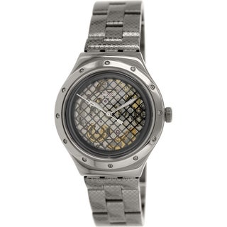 Swatch Men's Irony YAB101G Grey Stainless Steel Swiss Quartz Watch