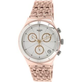 Swatch Men's Irony YCG408G Rose-gold Stainless Steel Swiss Quartz Watch