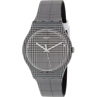Swatch Men's Originals SUOB113 Black/White Silicone Swiss Quartz Watch