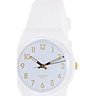 Swatch Men's Originals GW164 White Silicone Swiss Quartz Watch