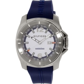 Tommy Hilfiger Men's 1791113 Blue Rubber Quartz Watch