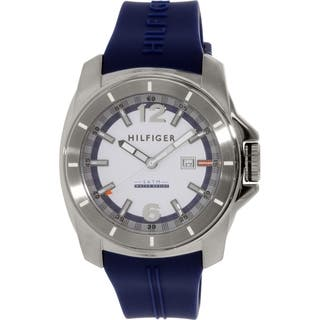 Tommy Hilfiger Men's 1791113 Blue Rubber Quartz Watch|https://ak1.ostkcdn.com/images/products/9952719/P17106739.jpg?impolicy=medium