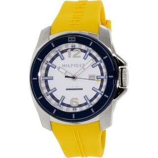 Tommy Hilfiger Men's 1791115 Yellow Rubber Quartz Watch