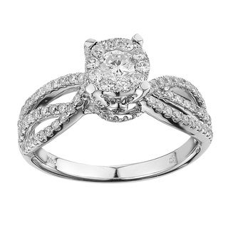 14k White Gold .88ct TDW Diamond Engagement Ring