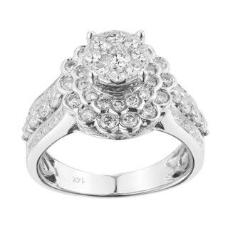 14k White Gold 1 2/5ct TDW Beautiful Diamond Engagement Ring