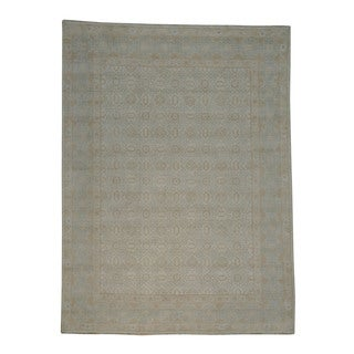 100 Percent Wool Washed Out Khotan Handmade Oriental Rug (9' x 11'10)