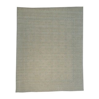 Stone Wash Khotan Handmade 100 Percent Wool Oriental Rug (11'1 x 14'1)