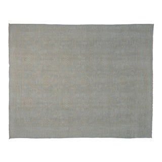White Wash Hand-Knotted Oushak Oriental Rug (8' x 10')