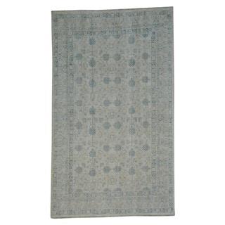 Washed Out Khotan Oriental 100-percent Wool Handmade Rug (5'7 x 9'5)
