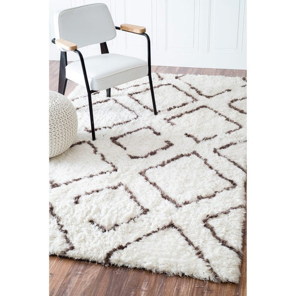 Shop NuLOOM Soft And Plush Moroccan Trellis Ivory Brown