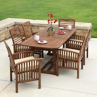 Havenside Home Surfside 7-piece Acacia Wood Patio Dining Set