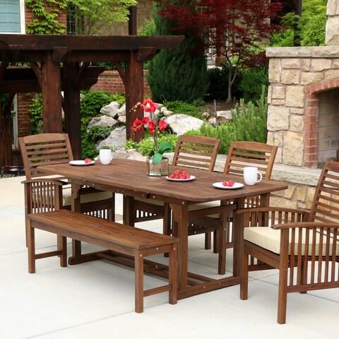 Carbon Loft Ostriker 6-piece Brown Wood Patio Dining Set