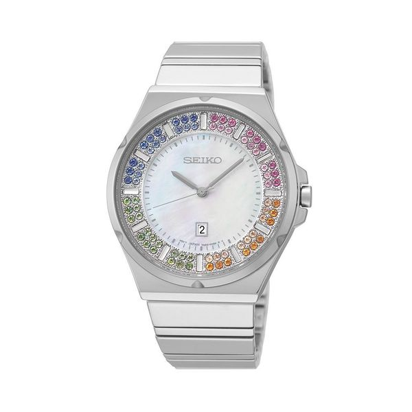 53358cb961 Shop Seiko Women's SXDG55 Stainless Steel with a Austrian Crystal Dial  Watch - Free Shipping Today - Overstock - 9952989