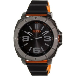 Hugo Boss Men's 1513109 Black Rubber Quartz Watch