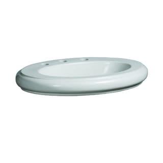 Danze Orrington Drop-in White Porcelain Bathroom Sink DC017118WH