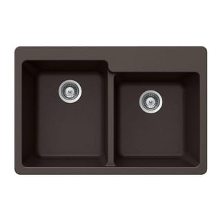 Houzer Cristaliteplus Drop-in Mocha Granite Kitchen Sink