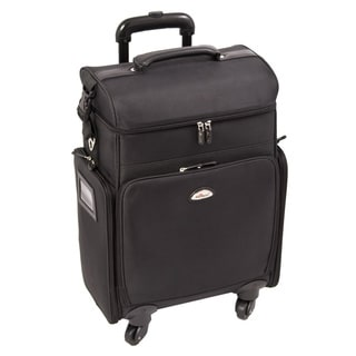 Sunrise All Black Professional Carry-on Rolling Makeup Case