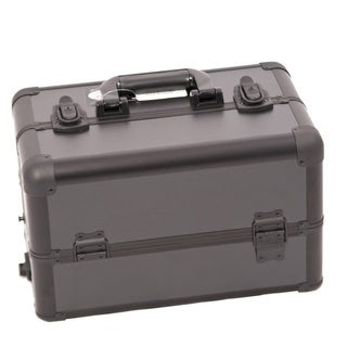 Sunrise All Black Professional Aluminum Makeup Case